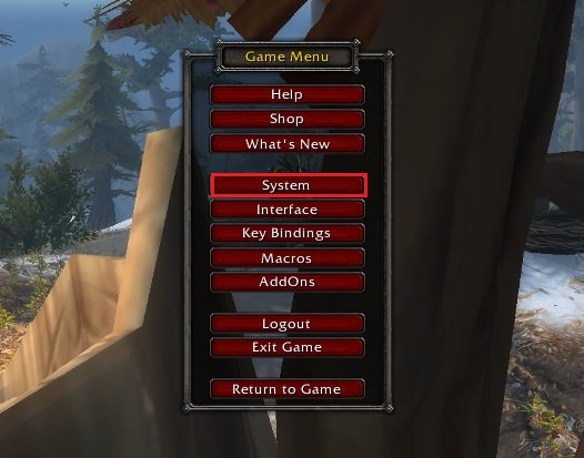 World of Warcraft Game Menu