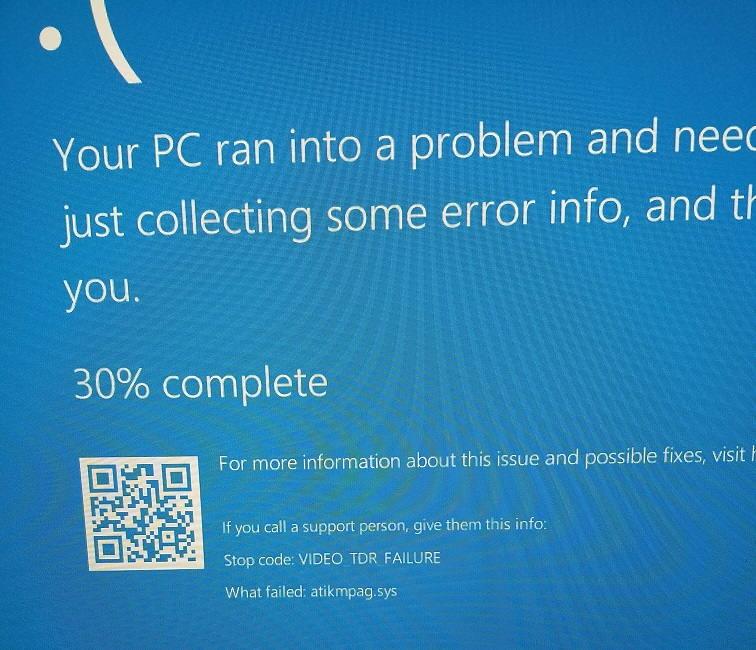 Video TDR Failure on Windows 10